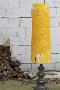 textil Stehlampe 70er